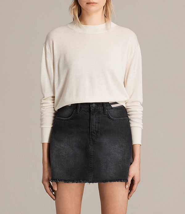 lotus cropped cashmere jumper
