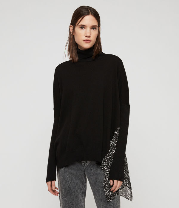 Alda Splash Roll Neck Jumper