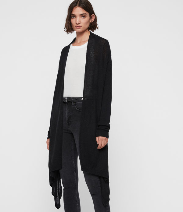Cardigan Long Asymétrique Una