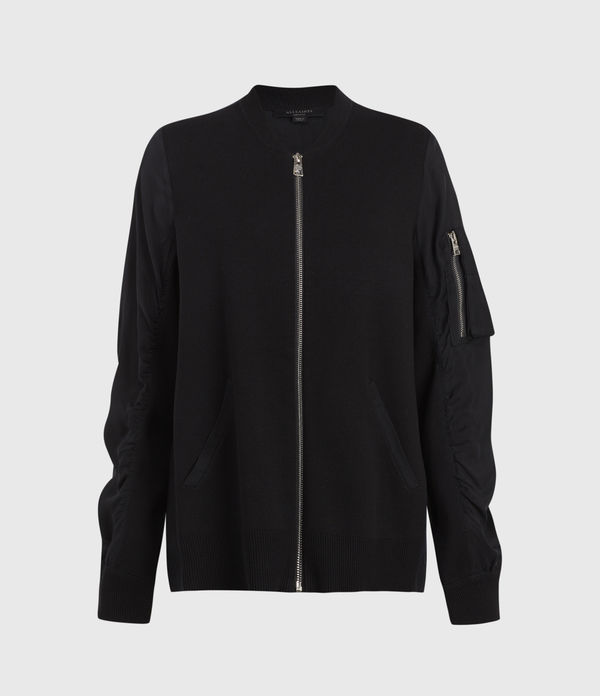 Maeve Zip Through Bomber Jacket