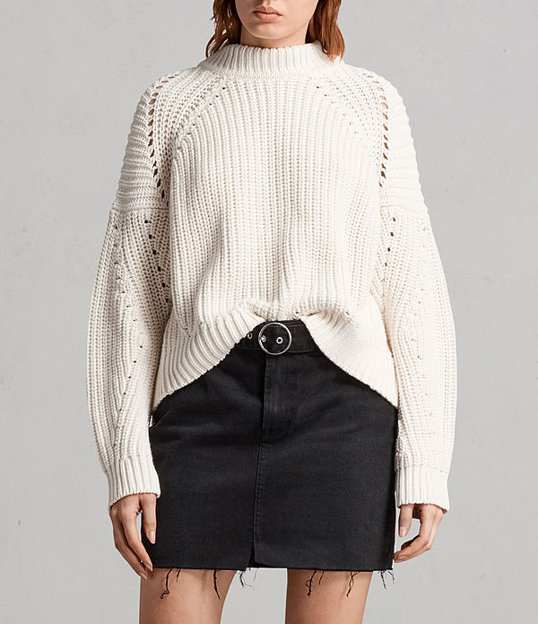 malu pointelle jumper