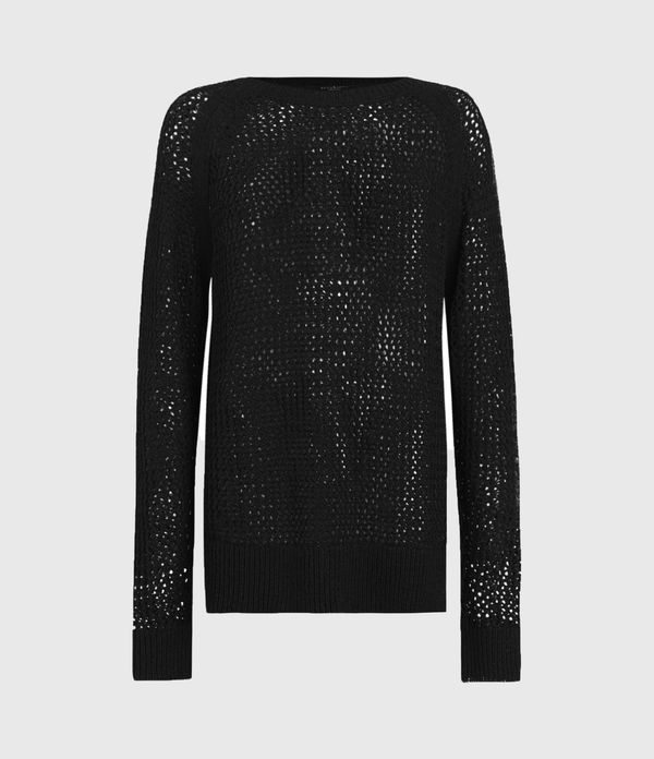 Mesh Crew Neck Jumper