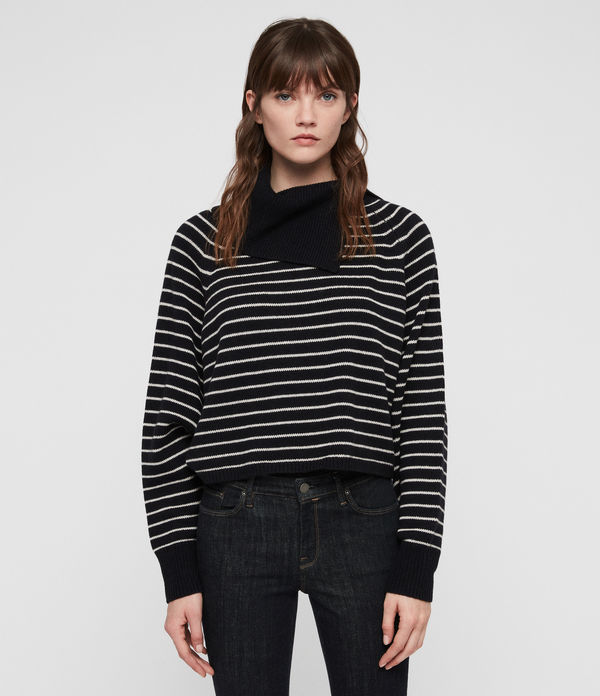 Maddie Cropped Roll Neck Jumper