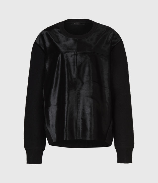 Aria Leather Jumper