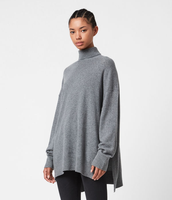 Gala Cashmere Blend Roll Neck Jumper
