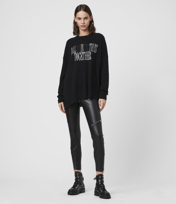 Maglione Together - In cashmere con grafica AllSaints
