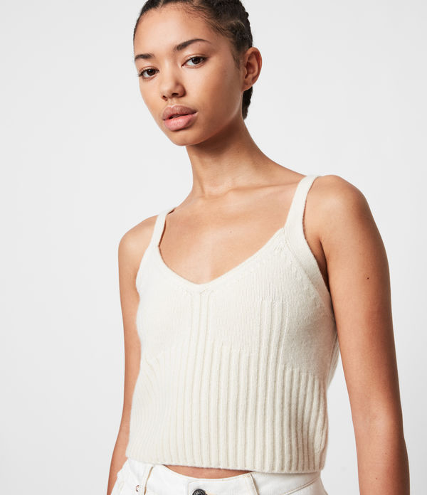 Drew Cashmere-Wool Crop Top