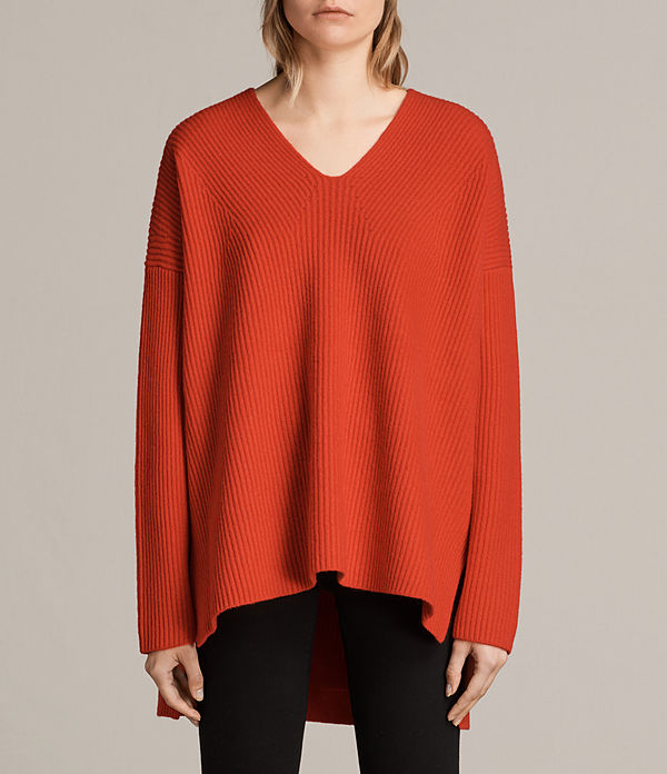 clea v-neck jumper