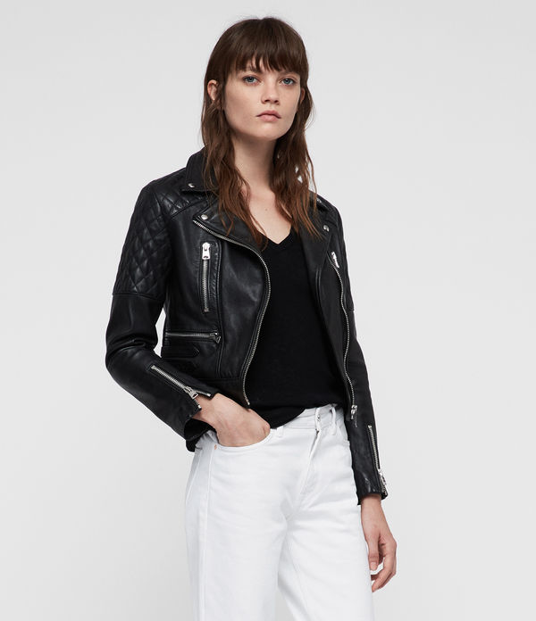 Nysa Leather Biker Jacket