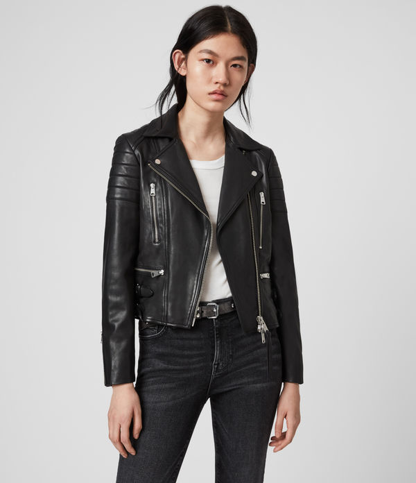 halley leather biker jacket