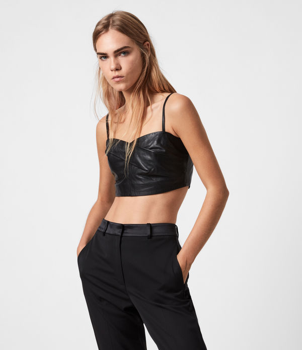 Orla Leather Bra