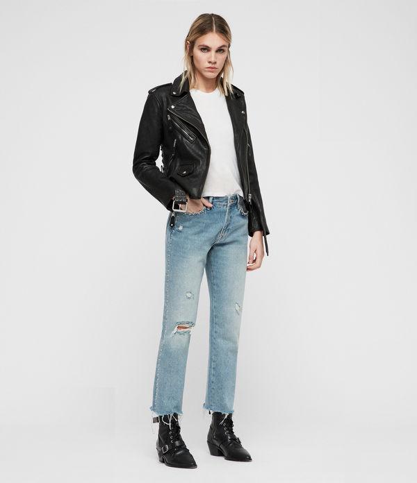 Sarana Leather Biker Jacket