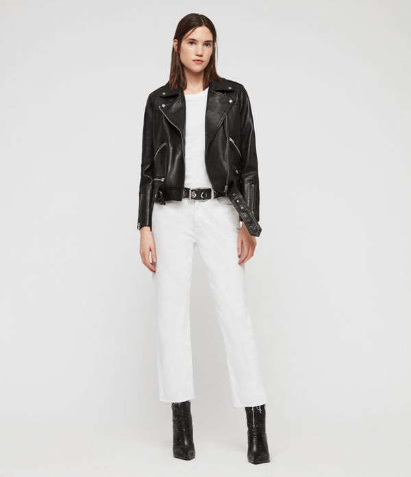 Estae Leather Biker Jacket