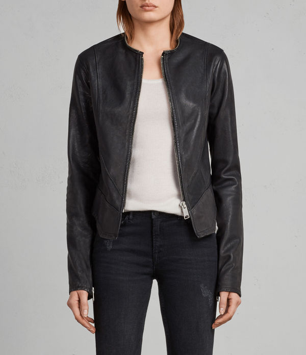 Calle Leather Blazer