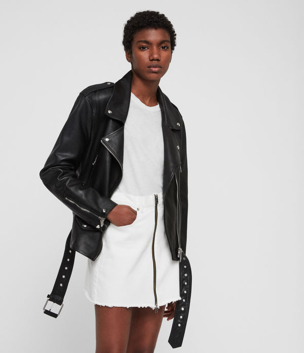 Annina Leather Biker Jacket