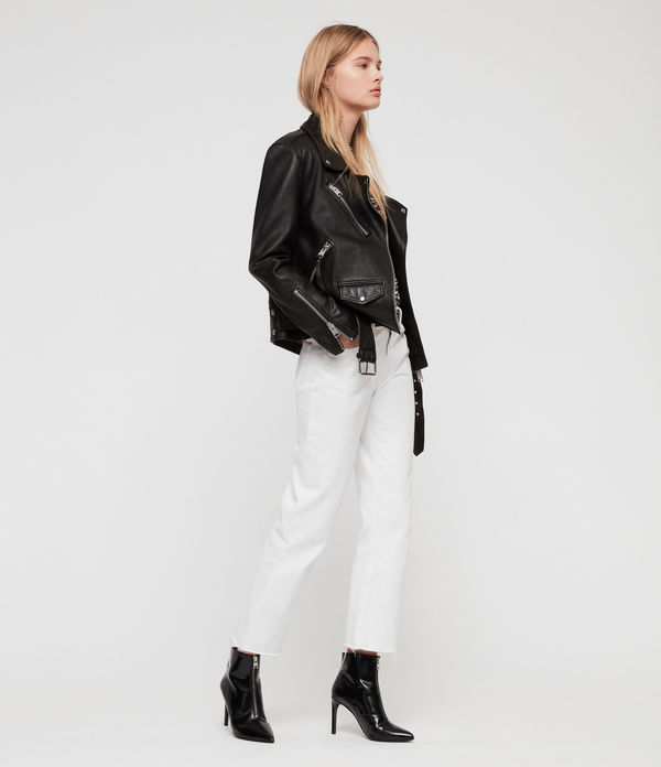 Billie Leather Biker Jacket
