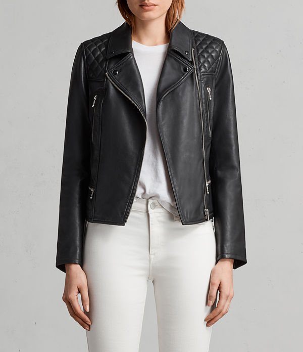 kelham leather biker jacket