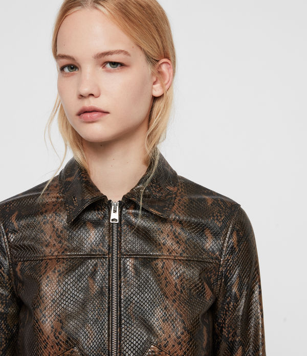 Pascao Oba Leather Bomber Jacket