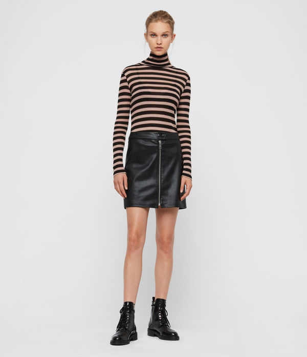 lena leather skirt