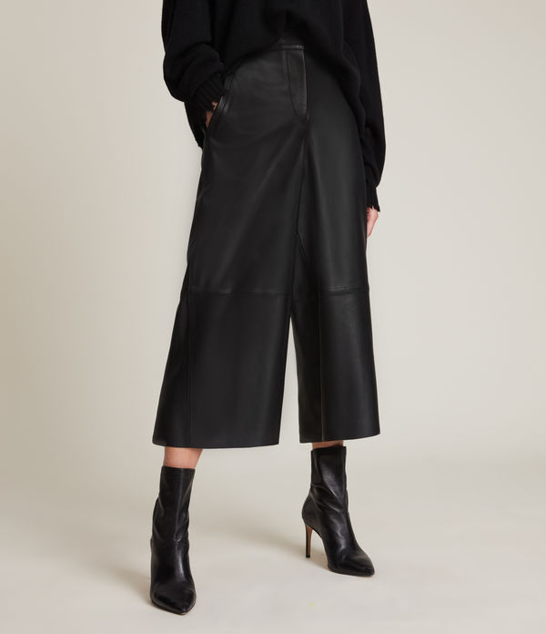 Leah Leather Culottes