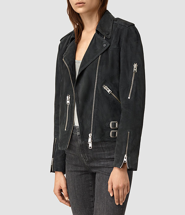 Edwards Suede Biker Jacket
