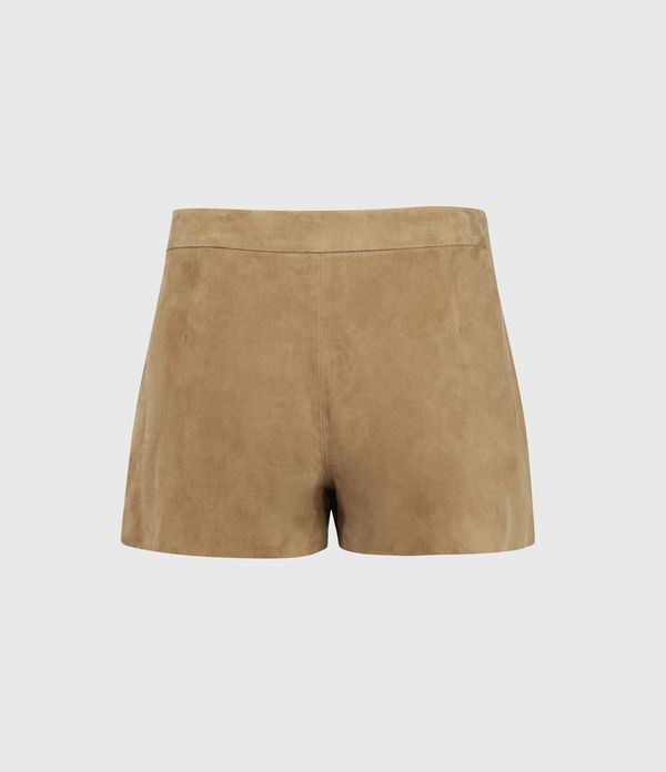 Calix Low-Rise Suede Shorts