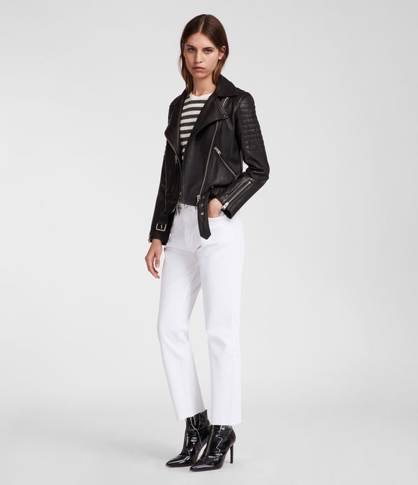 Quilted Leather Balfern Biker Jacket