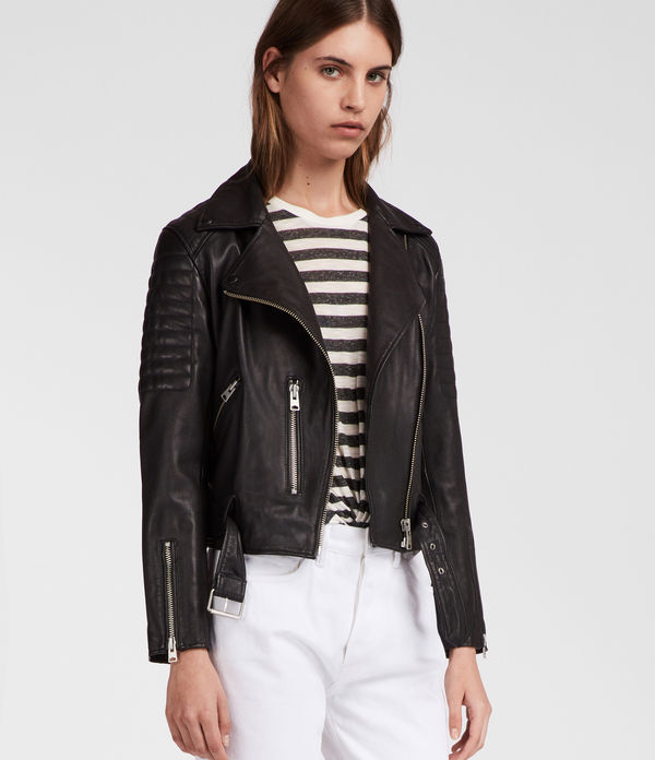 Quilted Balfern Leather Biker Jacket