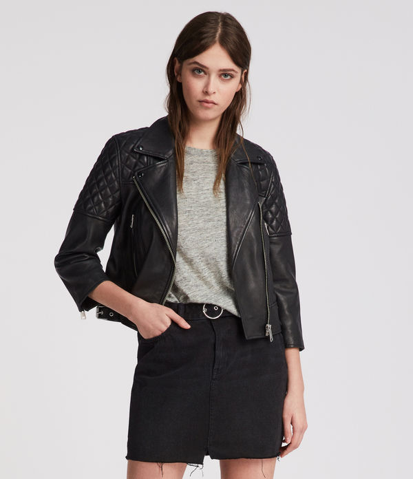 Beattie Leather Biker Jacket