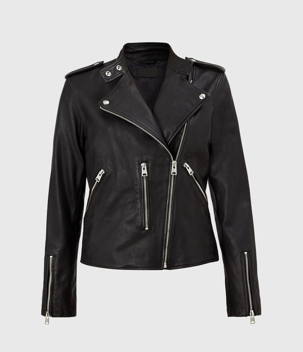 klyn leather biker jacket