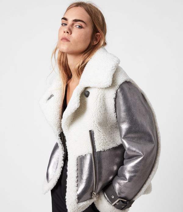 Farley Metallic Shearling Jacket