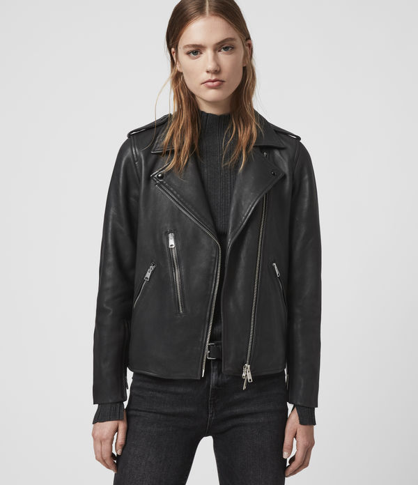 elva leather biker jacket