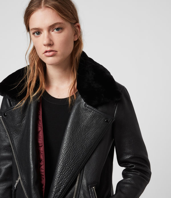 Maizie 2-in-1 Leather Biker Jacket