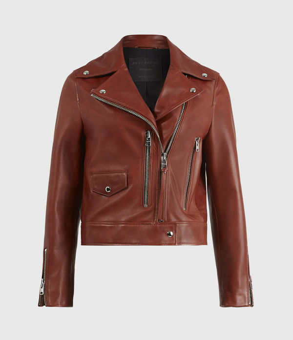 Suki Leather Biker Jacket