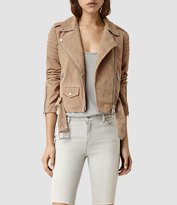 hitchen suede biker jacket
