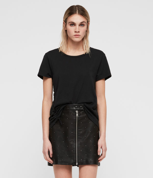 Lena Stud Leather Skirt