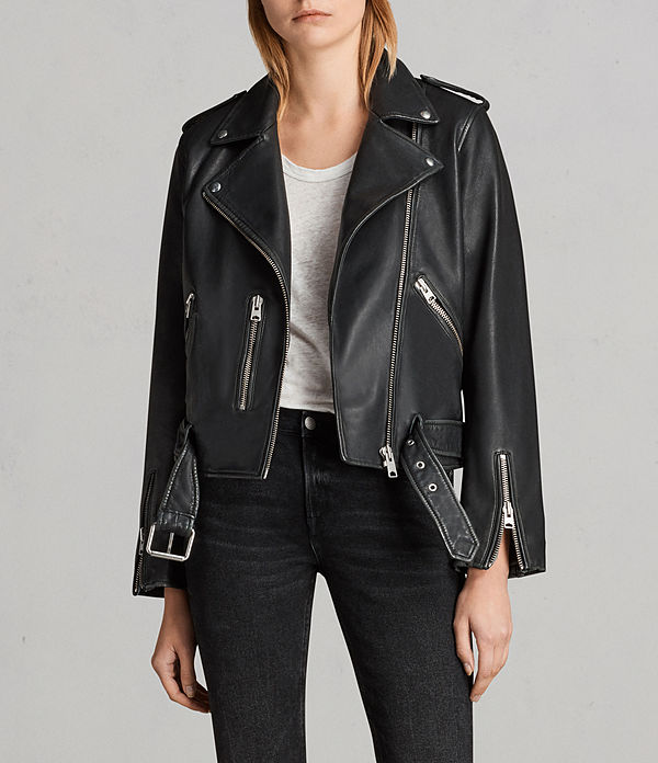vintage balfern leather biker jacket