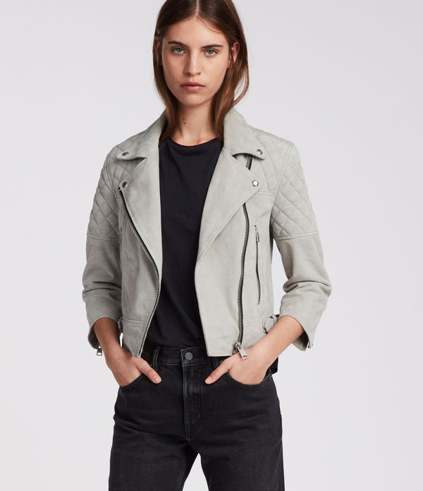 Beattie Suede Biker Jacket