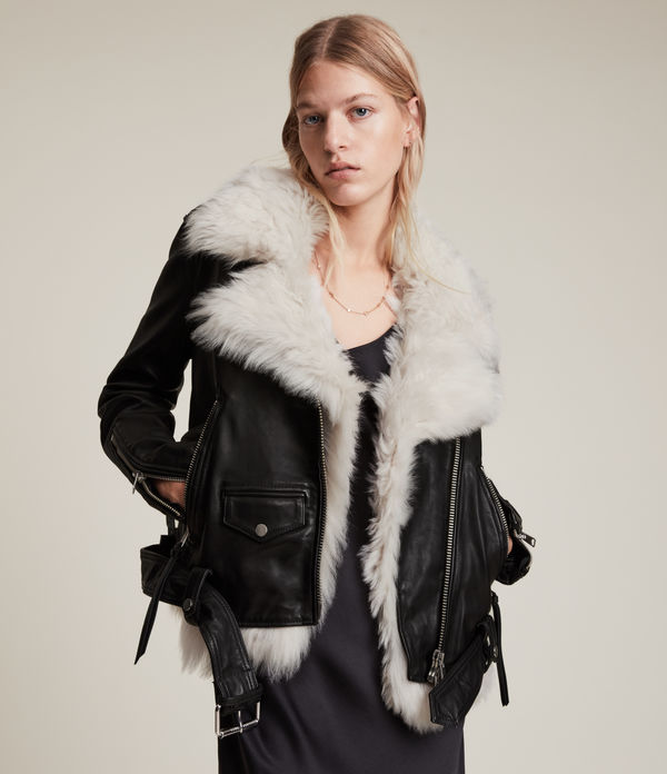 luna 4-in-1 shearling biker jacket