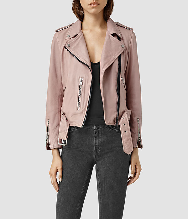 Wyatt Zip Leather Biker Jacket