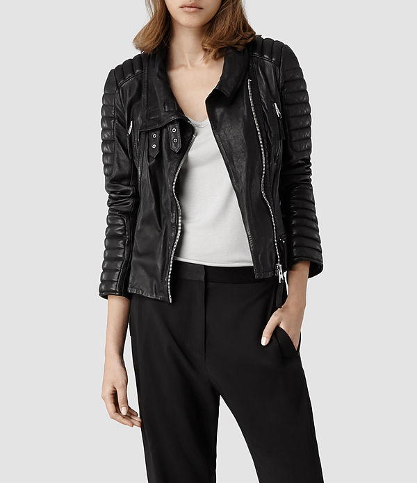 Sale alerts for AllSaints Steine Leather Biker Jacket - Covvet