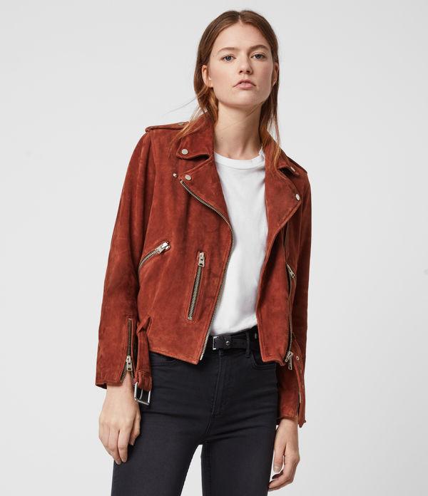 Suede Balfern Biker Jacket