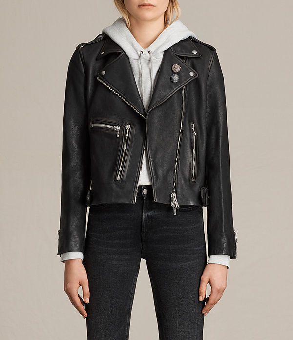 Milne Vintage Leather Biker Jacket