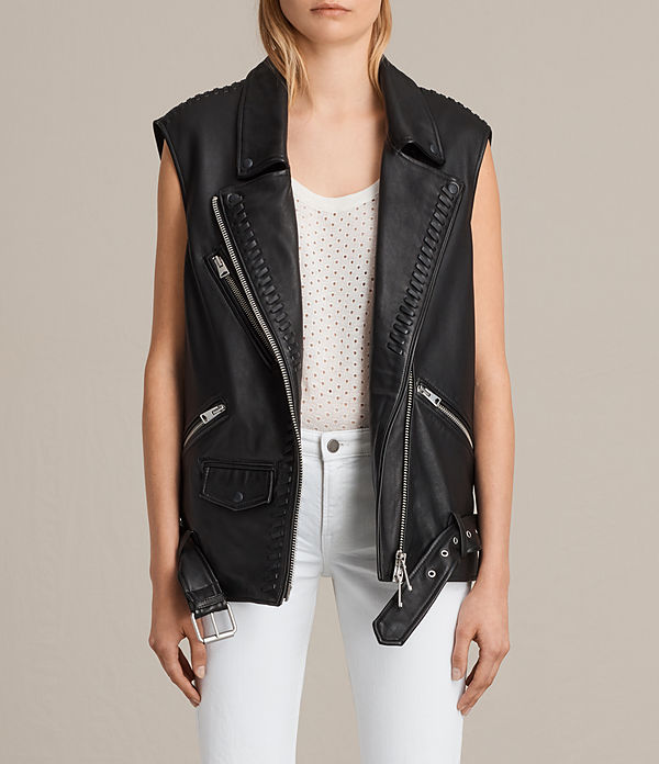 Oversized Sleeveless Biker Jacket