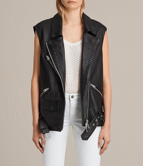 Oversized Sleeveless Biker Jacket