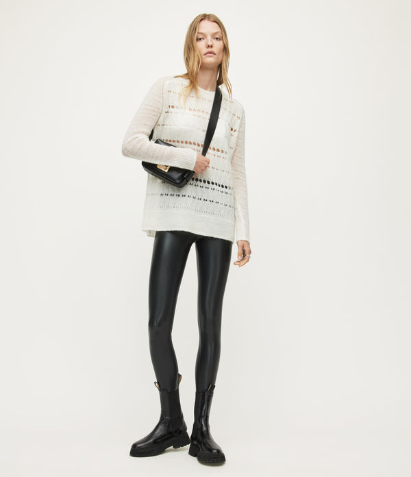 cora leather-look high-rise leggings