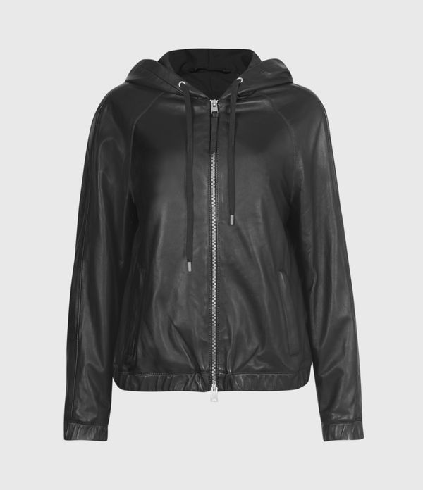 Penton Leather Hoodie Bomber Jacket