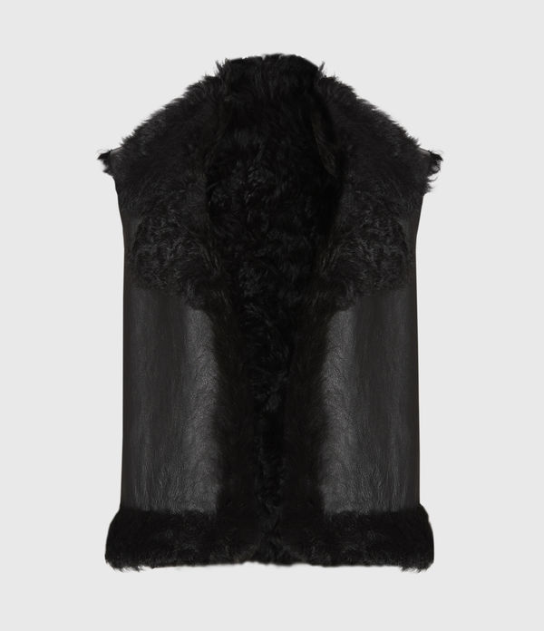 Reversible Shearling Gilet