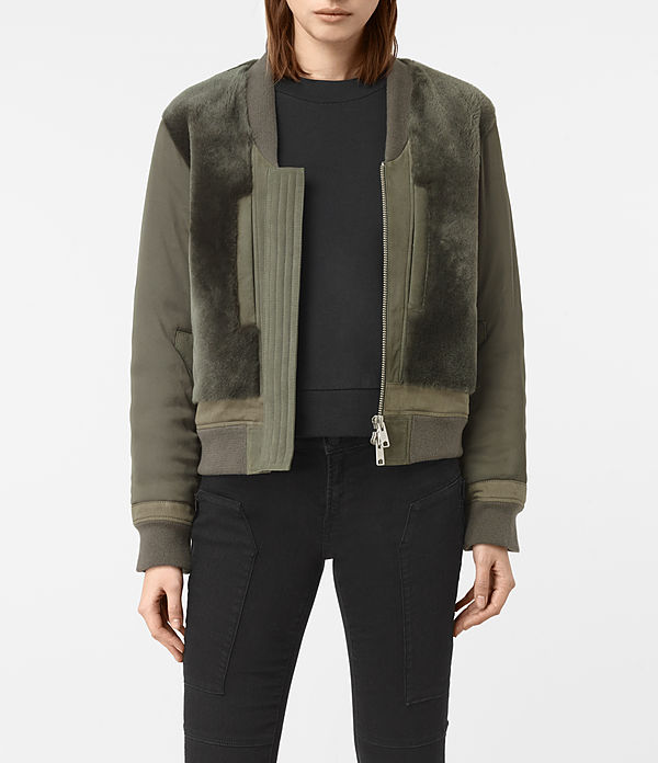 Finch Shearling Bomber Jacket
