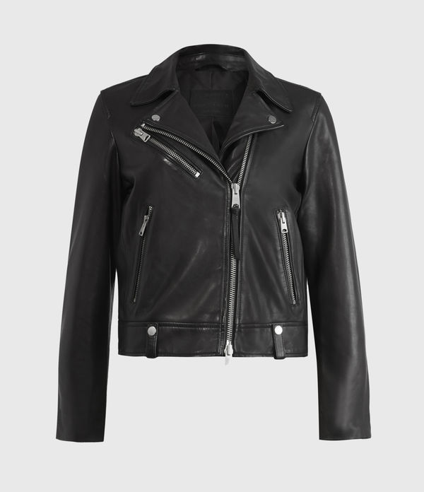 Drury Leather Biker Jacket